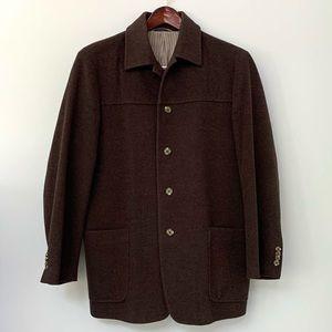 Vintage Ibiza men's wool/cashmere blend coat